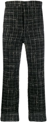 Thom Browne Frayed Ribbon Tweed Chino Trousers