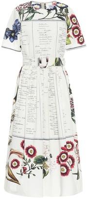 Oscar de la Renta Printed cotton-poplin midi dress