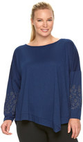 Gaiam Plus Size Karma Drop-Shoulder Tunic