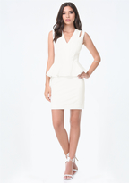 Bebe Cutout Peplum Dress