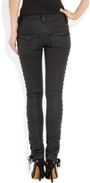 Isabel Marant Russell lace-up coated skinny jeans