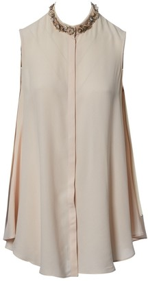 Alexander McQueen Pink Silk Top for Women