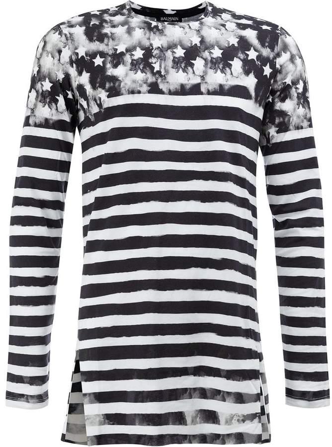 Balmain striped U.S.A. jumper