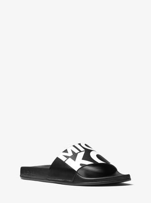MICHAEL Michael Kors Gilmore Graphic Logo Slide Sandal
