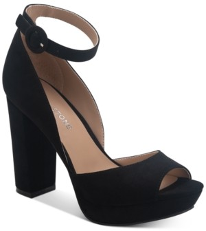 Sun + Stone Reeta Block-Heel Platform Sandals, Created for Macy's Women's Shoes