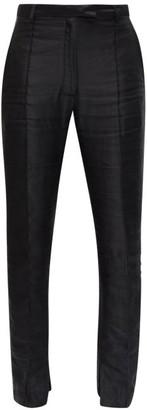 Ann Demeulemeester Pintucked Slim-leg Wool Trousers - Black