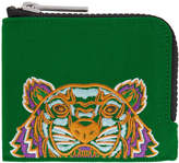 Kenzo Green Tiger Zip Around Wallet