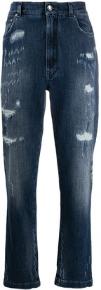 Dolce & Gabbana Distressed Tapered Jeans