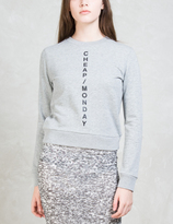Cheap Monday Diagonal Logo Win Sweatshirt