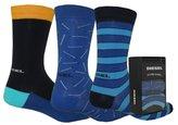 Diesel Men's Ray Threepack-Multi Sock