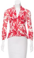 Yigal Azrouel Floral Print Silk Top