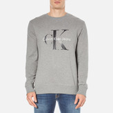 Calvin Klein Men's Crew Neck Sweatshirt Mid Grey Heather