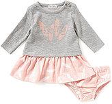 Jessica Simpson Baby Girls Newborn-9 Months Heathered-Knit Dress