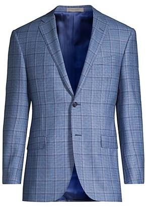 Corneliani Windowpane Wool Blazer