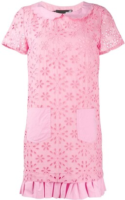 Love Moschino Floral Broderie Anglaise Dress