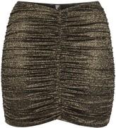 Lisa Marie Fernandez metallic ruched mini skirt