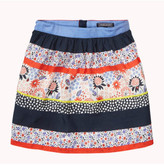 Tommy Hilfiger Patch Work Flower Rayon Skirt