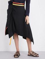 Martina Spetlova Asymmetric cotton-poplin skirt