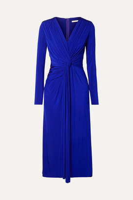 Jason Wu Collection - Twist-front Stretch-jersey Midi Dress - Royal blue