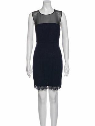 Diane von Furstenberg Nisha Mini Dress w/ Tags Blue