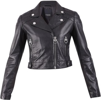 Pinko Cropped Biker Jacket