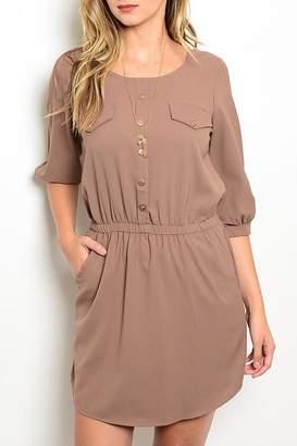 Lila Khaki Pockets Dress