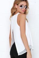 LuLu*s Riddles and Giggles Ivory Top