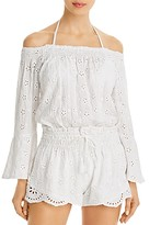 Thumbnail for your product : Surf.Gypsy Off-The-Shoulder Eyelet Romper Swim Cover-Up
