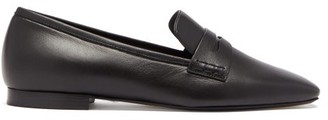 KHAITE Carlisle Square-toe Leather Loafers - Black