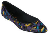 Kathy Van Zeeland KathyVanZeeland Pointed Toe Ballet Flats with Graffiti Design