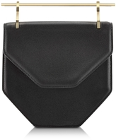 M2Malletier Amor Fati Black Leather Shoulder Bag