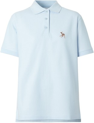 Burberry Deer Motif Polo Shirt