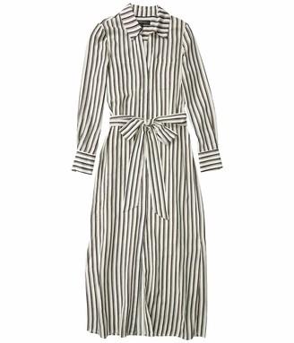 BCBGMAXAZRIA Women's Striped Long Sleeve Maxi Dress