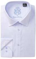 English Laundry Grid Pattern Trim Fit Dress Shirt