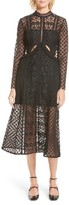 Self-Portrait Women's Payne Cutout Lace Midi Dress