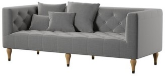 "Mercury Row Dunkle 83"" Tuxedo Arm Sofa Upholstery Color: Charcoal Gray"