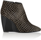 Pierre Hardy WOMEN'S HAIRCALF WEDGE ANKLE BOOTS-BLACK, WHITE SIZE 11