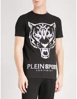PLEIN SPORT Tiger-print stretch-cotton T-shirt