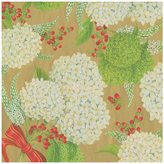 Caspari Snowball Hydrangeas Continuous Gift Wrapping Paper - Gold