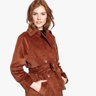 La Redoute Collections Long Corduroy Trench Coat