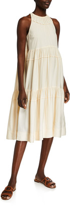 Rosetta Getty Tiered Ruffle Halter Dress