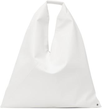 MM6 MAISON MARGIELA White Medium Triangle Tote