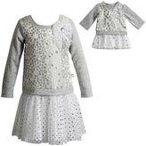 Dollie & Me Girls 4-14 Polka Dot & Glitter Dress Set