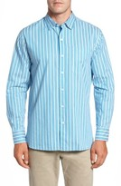 Tommy Bahama Men's Big & Tall Surf The Line Stripe Sport Shirt