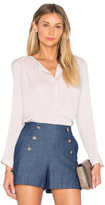 Rebecca Taylor Long Sleeve Double Georgette Top
