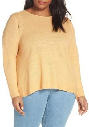 Eileen Fisher Round Neck Tunic Top (Regular & Plus Size)