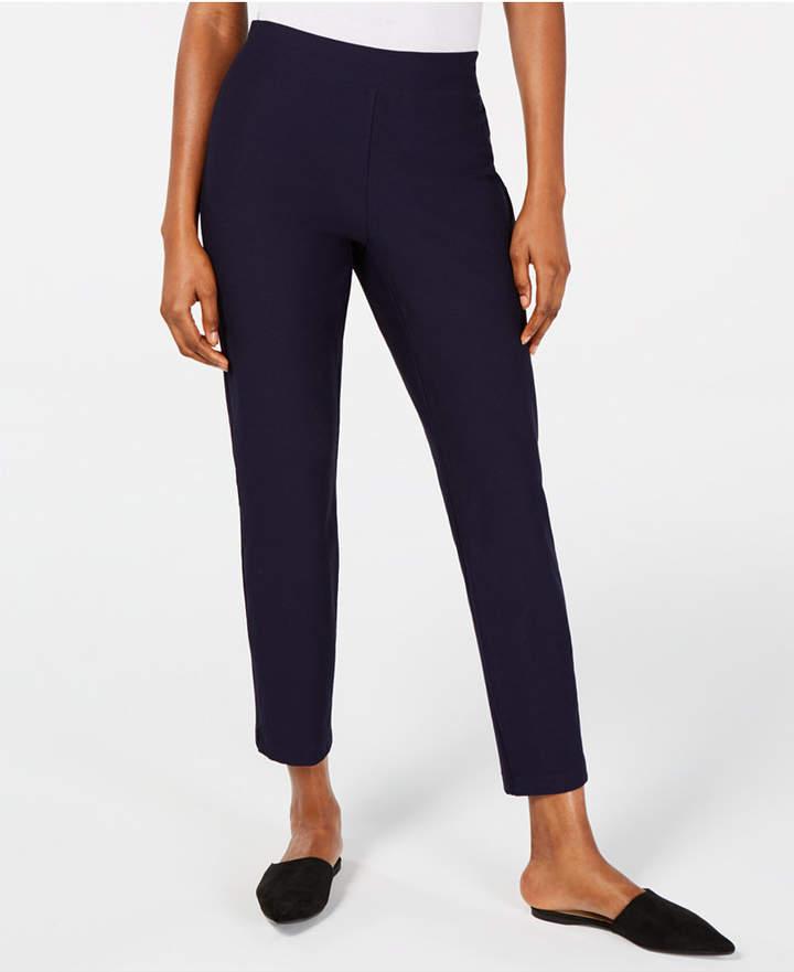 Eileen Fisher Pull-On Slim-Fit Pants, Regular & Petite