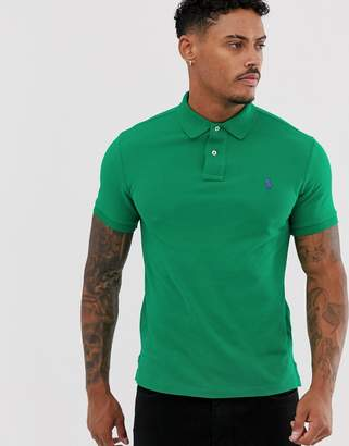 Polo Ralph Lauren player logo pique polo slim fit in bright green