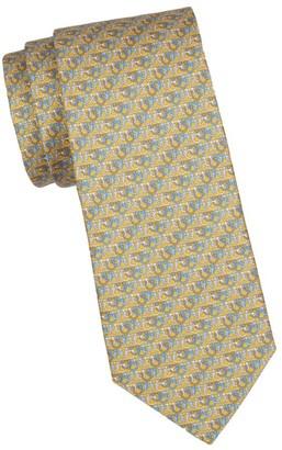 Salvatore Ferragamo Multi Gancini Print Silk Tie