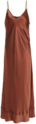 Lee Mathews Stella Silk-satin Midi Slip Dress